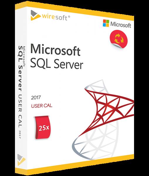 MICROSOFT SQL SERVER 2017 - 25 PACK USER CAL