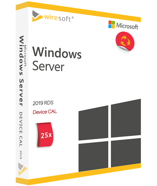 MICROSOFT REMOTE DESKTOP SERVICES 2019 - 25 PACK DEVICE CAL
