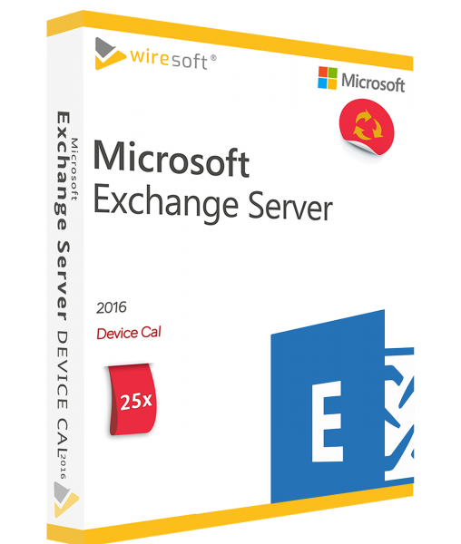 MICROSOFT EXCHANGE SERVER 2016 - 25 PACK DEVICE CAL