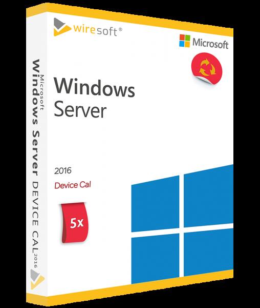 MICROSOFT WINDOWS SERVER 2016 - 5 PACK DEVICE CAL